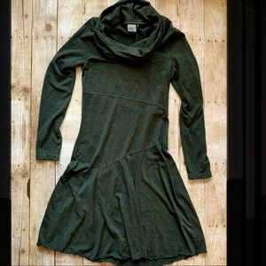 Athleta olive green cowl neck sweater dress
